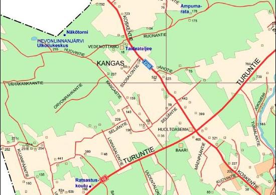 Karttakuva Hevonlinnan sijainnista